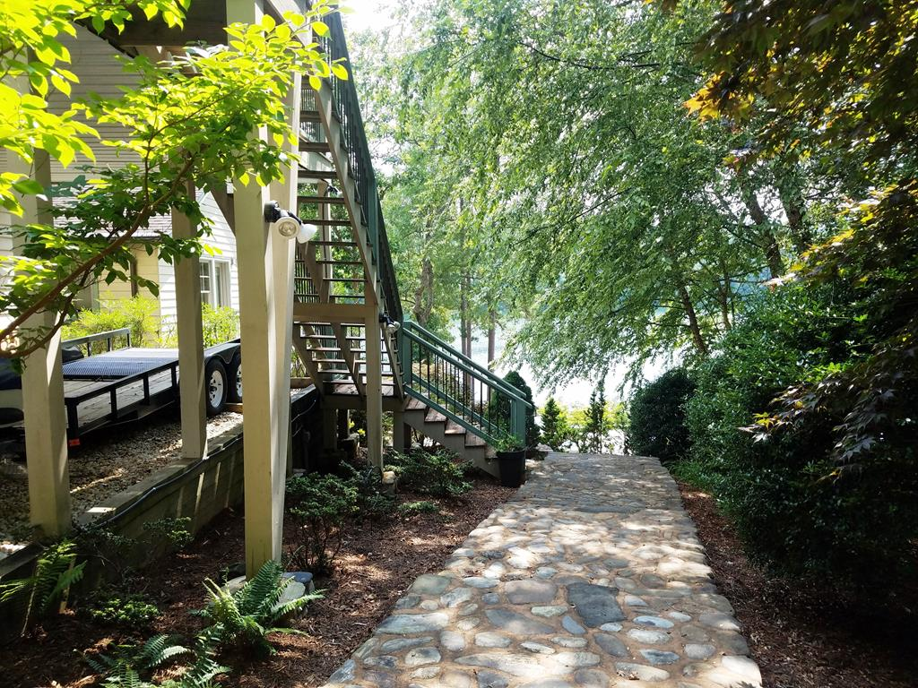 Walkway down to dock and house