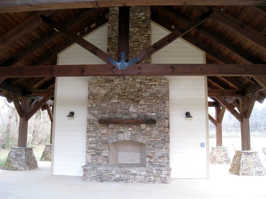 Community area with fireplace, Restrooms