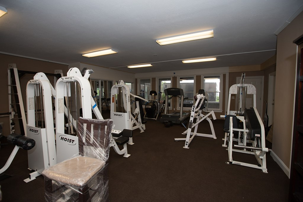 Workout room, entertainment room basement