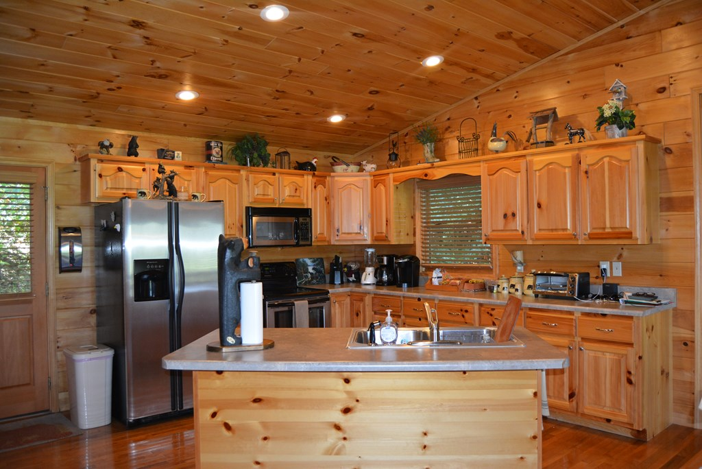 Stainless Steel appliances and an Island