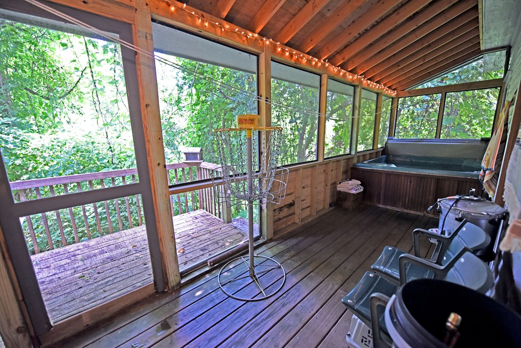 Hot Tub on Screened Porch