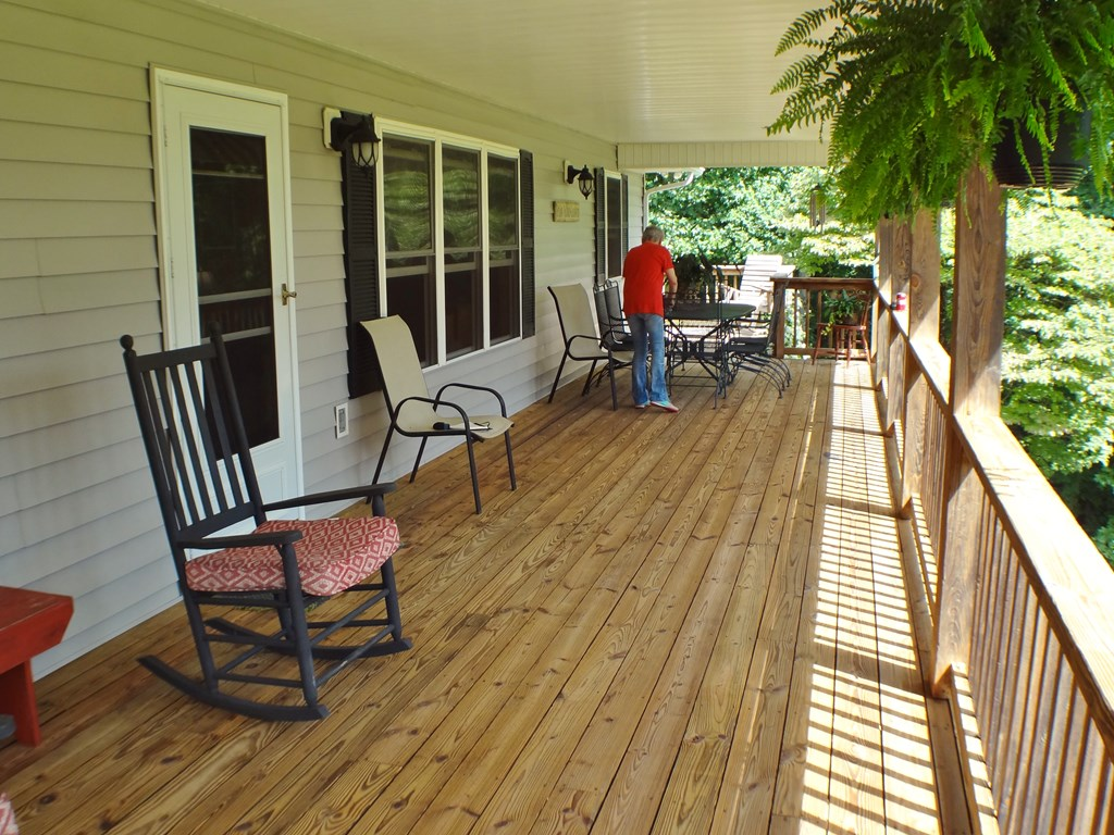 Covered porch with cool breezes