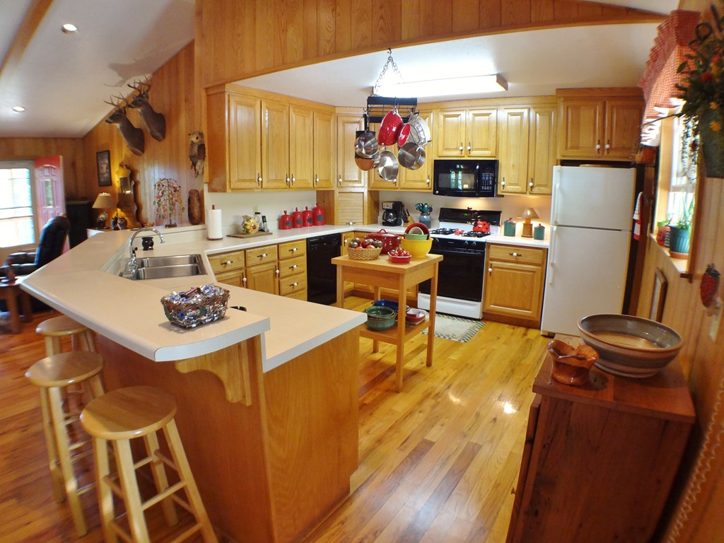 Nice kitchen with lots of Counter space and cabine