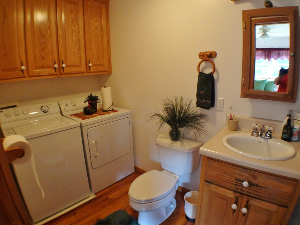 Guest Bath and Laundry area